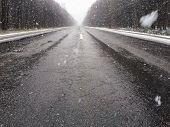 image of icy road  - Snow - JPG