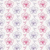 image of orquidea  - Seamless pattern with flowers - JPG