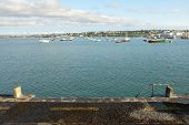 picture of marina  - A view from the quayside wall out across the moorings of Holyhead marina Anglesey Wales UK. ** Note: Soft Focus at 100%, best at smaller sizes - JPG
