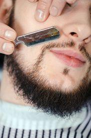 image of barber razor  - Perfect lumberjack beard - JPG