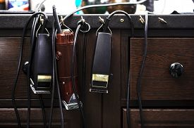 foto of barber razor  - Barber tools - JPG