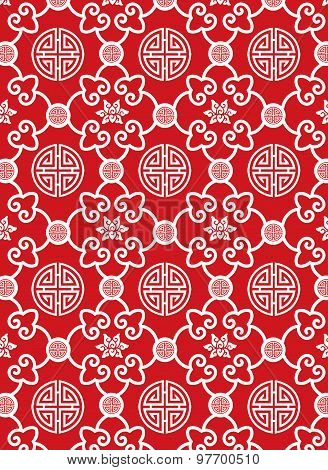 Classic Oriental Pattern on Red