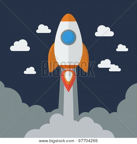 Rocket Flat Design