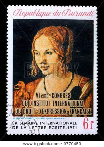 Stamp With Painting By Albrecht Durer