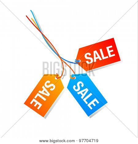 Sign of sales - advertising, discount, sale.