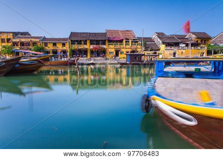 The riverside of Hoi An ancient town, Vietnam