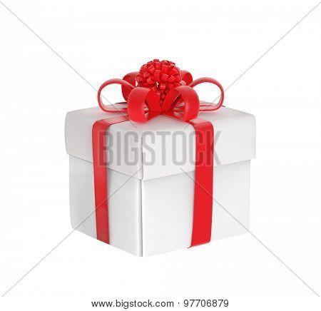 White gift-box