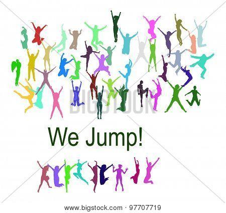 Win-Win People Jumping