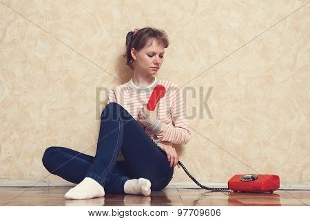 Girl Is Calling By Phone
