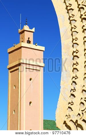 In Maroc Africa Minaret And The