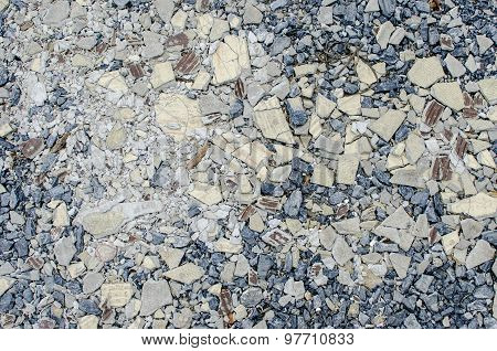 Gravel Mix With Crack Tile Texture Background