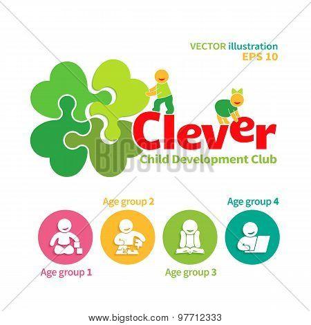 Vector logo of child development club