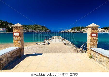 Small Pier At The Beach Of Port De Soller