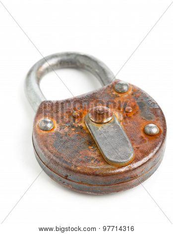 Locked Old Padlock