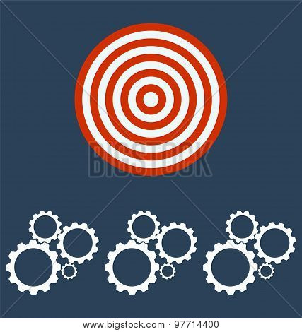 Cogwheel Gear Mechanism, Target Business Concept.