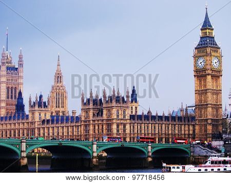 Big Ben And Westminster Abbey, London