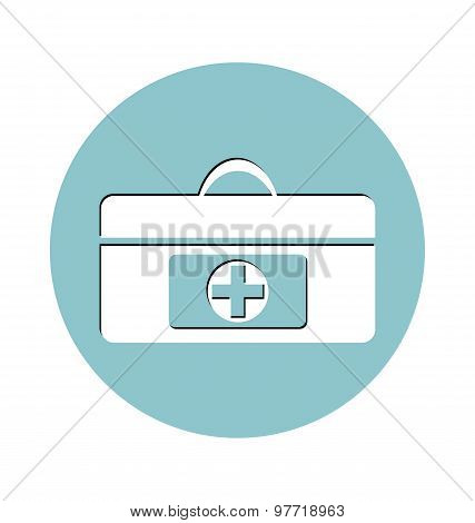 First Aid Kit Icon, Icon Of Medical Case