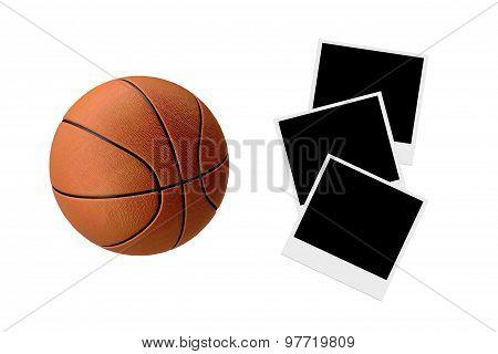 Basketball On Polaraoid Photos