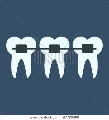 Dental Teeth Braces, Medical Concept