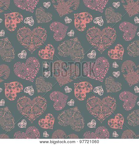 Bright openwork seamless pattern