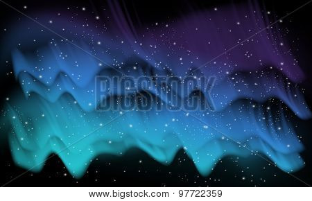 Space, aurora background