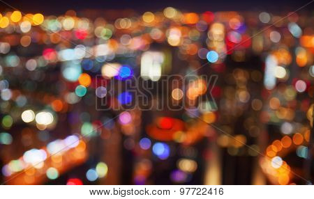 Night lights of the big city