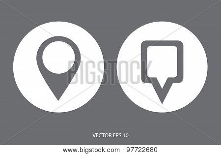 Map Pointer Icon. Location marker symbol