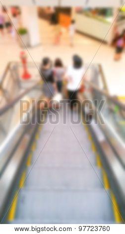 Abstract blur  Escalator steps