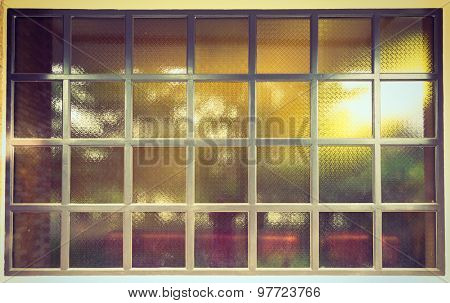 Glass window ( Filtered image processed vintage effect. )