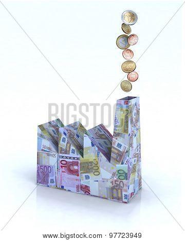Building Factory Made Of Euro Money