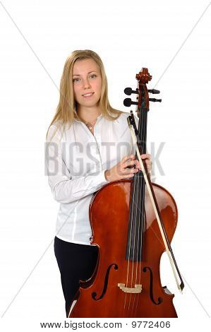 Young Cellist Standing