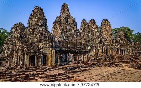 Angkor Bayon Temple In Angkor Wat Area, Cambodia