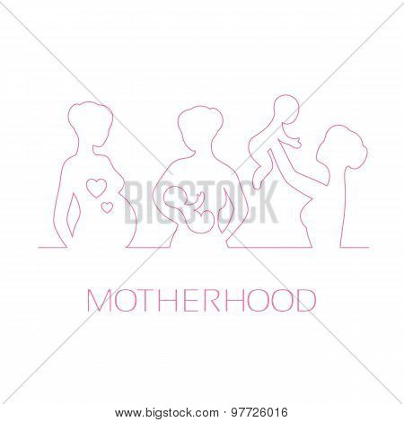 Design elements for design Mothers Day greetings