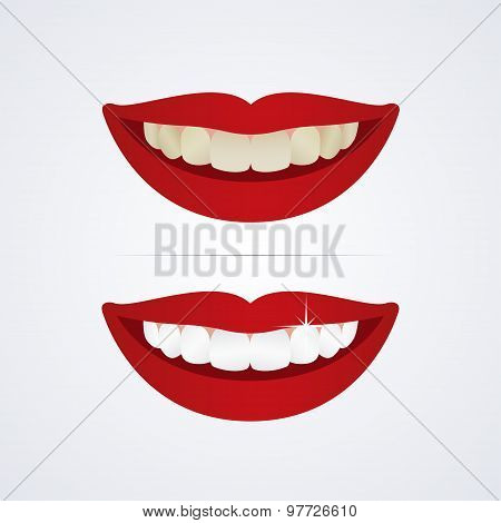 Whitening teeth illustration