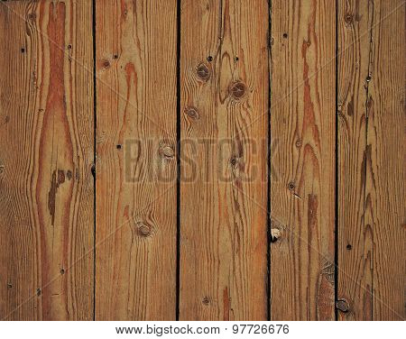 Vintage Wooden Panel With Vertical Planks And Gaps