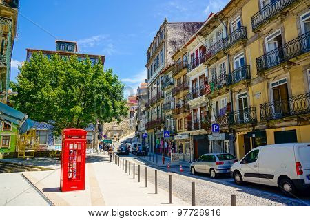 PORTO, PORTUGAL - JUNE, 11: Street in old city landscape at day time on June 11, 2015 in Porto, Portugal