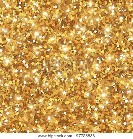 Abstract Seamless Gold Background.