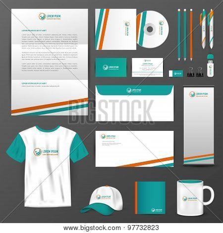 Business Uniform, Office Stationary, And Accessories Tool Such As Staff Shirt, Computer Storage Devi