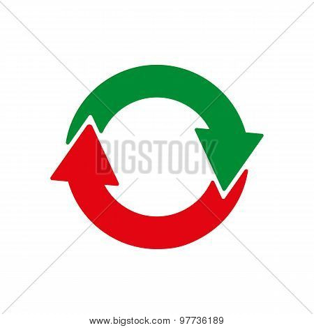The recycling icon. Eco and ecological, cycle symbol. Flat