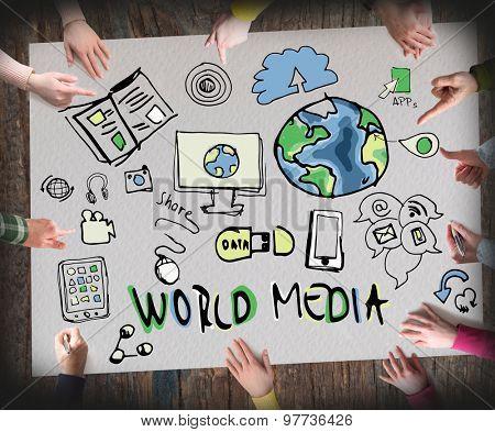 World Media concept