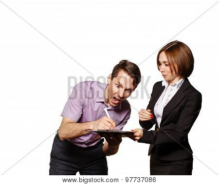 Businessman Signs A Contract Horrible.