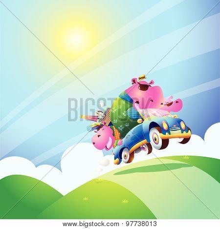 Family Hippo Travel