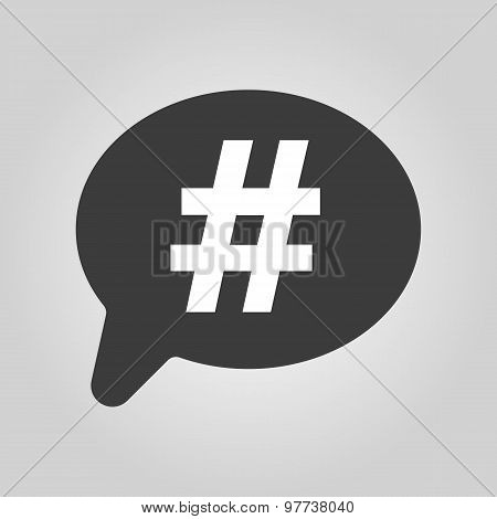 The hashtag icon. Social network and web communicate symbol. Flat