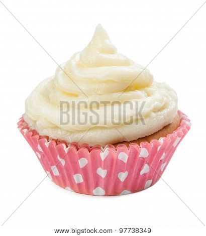Cupcakes Isolated On A White Background