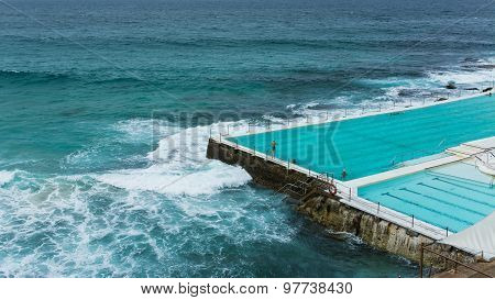 Swimming At Icebergs At Bondi Beach In Australia Sydney