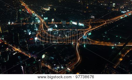 View From The Highest Building Of Bangkok, The So-called Baiyoke Ii Tower
