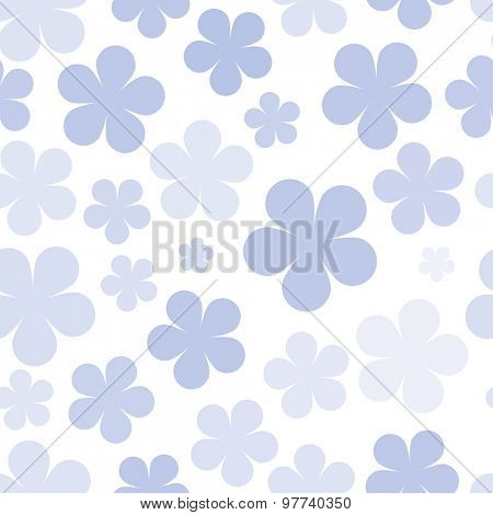 Various flowers seamless pattern background