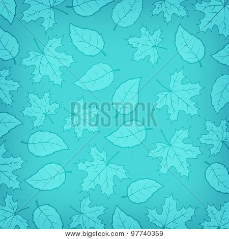 Autumn leaves gradient background