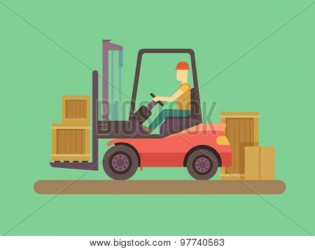 Loading and unloading machine