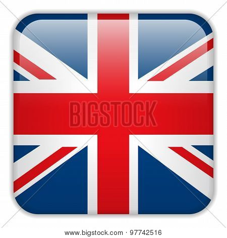 United Kingdom England Flag Smartphone Application Square Buttons